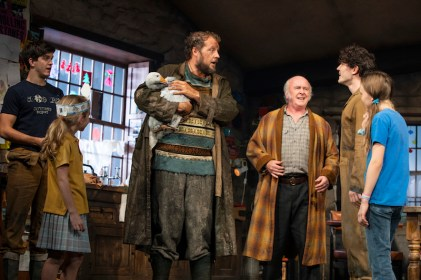 (L-R): Niall Wright (James Joseph (JJ) Carney), Matilda Lawler (Honor Carney), Justin Edwards (Tom Kettle), Mark Lambert (Uncle Patrick Carney), Fra Fee (Michael Carney), and Willow McCarthy (Mercy Carney)