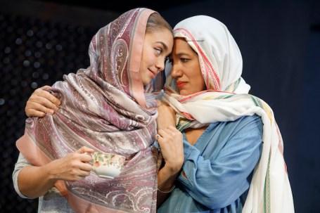 """IShazi Raja and Basminder """"Boz"""" Batra and Purva Bedi as Deepa Batra"""