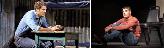 """James Franco, left in """"Of Mice in Men."""" Kevin Broccoli, right, in """"James Franco and Me"""""""