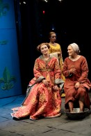 Kate Jennings Grant (as Lady of the Court), Olivia Gilliatt (as Monique), and Glenn Close (as Joan of Arc)