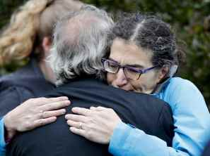 Mourners in Pittsburgh