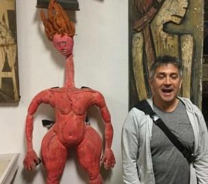 La Mama's Federico Restrepo with his first-ever puppet, Loca 7