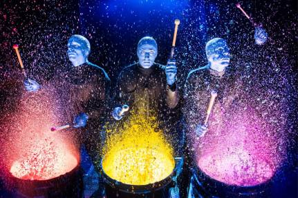 blue man group drumming