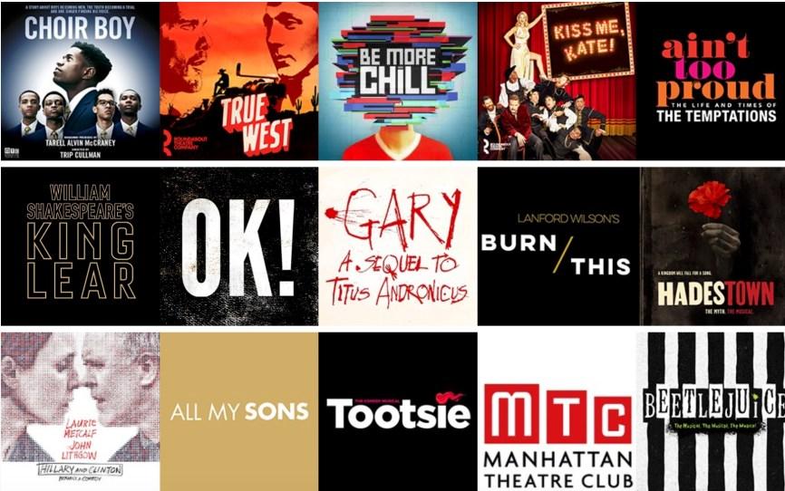 Broadway Spring 2019 logo collage