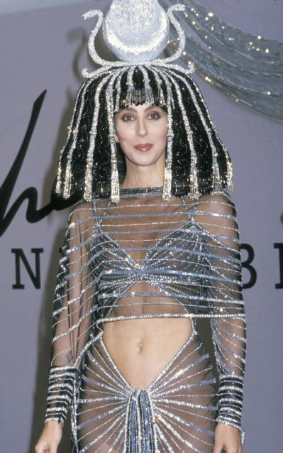 Cher Cleopatra at Halloween party 1988