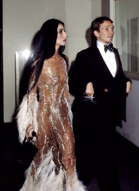 Cher in a Bob Mackie with Bob Mackie