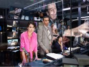Network 6 Tatiana Maslany, Julian Elijah Martinez and the cast in NETWORK, Photo by Jan Versweyveld, 2018