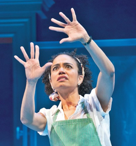 """Lauren Ridloff in """"Children of a Lesser God"""" in New York, March 21, 2018. The first Broadway revival of Mark Medoff's 1980 play shows that it was ahead of its time about deafness, but not about gender. (Sara Krulwich/The New York Times)"""
