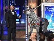 Sven the reindeer at the Tonys