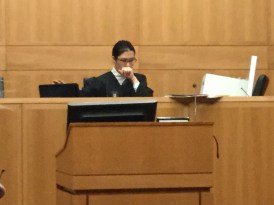 Ruthie Ann Miles as Immigration Judge Craig Zerbe in The Courtroom