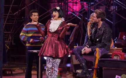 RENT: L-R: Jordan Fisher, Valentina, Brandon Victor Dixon and Brennin Hunt