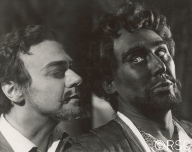 Anthony Quayle in blackface as Othello in a 1954 Royal Shakespeare Company production. Photo by Angus McBean