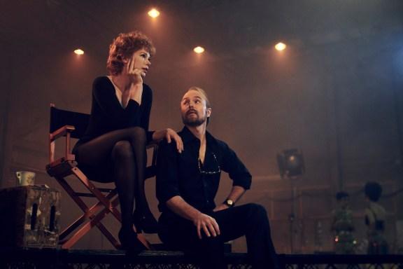 FOSSE VERDON -- Pictured: (l-r) Michelle Williams as Gwen Verdon, Sam Rockwell as Bob Fosse. photo by Pari Dukovic/FX