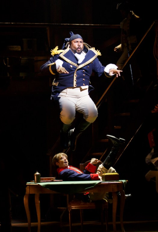 James Monroe Iglehart as Marquis de Lafayette and Thayne Jasperson as Samuel Seabury