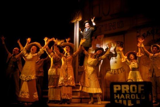 Robert Preston and company in original Music Man