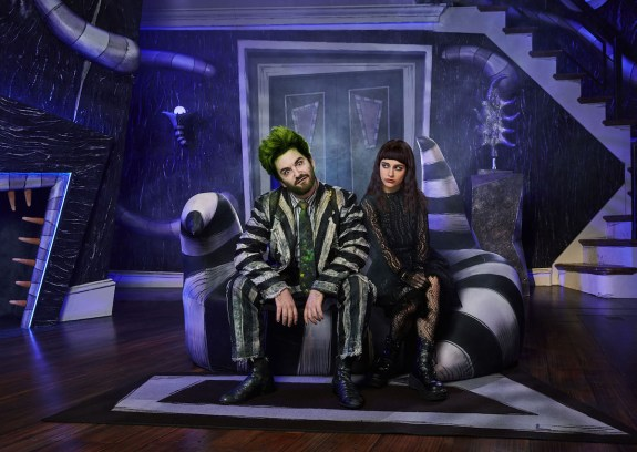 Beetlejuice 1 Alex Brightman and Sophia Caruso