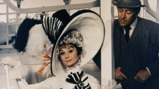 "Audrey Hepburn starred in the 1964 film of My Fair Lady, with Marni Nixon's voice dubbed in for the songs. Rex Harrison portrayed Prof. Higgins both on Broadway and in Hollywood, but Julie Andrews was replaced. ""With all her charm and ability, Julie Andrews was just a Broadway name known primarily to those who saw the play,"" movie mogul Jack Warner wrote in his memoir. But don't pity Julie Andrews. She was thus free to be cast in the movie of Mary Poppins, which made her a movie as well a stage star."