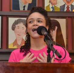 Amber Gray, featured actress in a musical, Hadestown