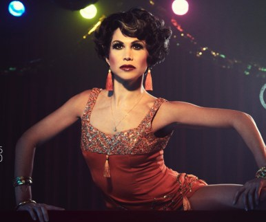 "Bianca Marroquin as Chita Rivera portraying Velma Kelly in ""Chicago"" in Fosse Verdon"