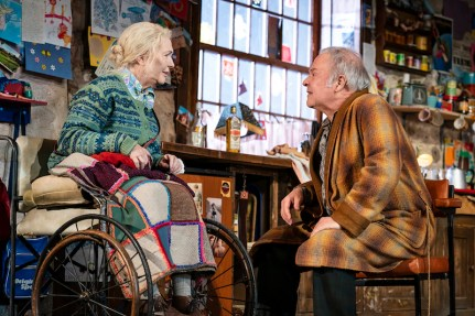 The Ferryman Fionnula Flanagan (Aunt Maggie Far Away) and Fred Applegate (Uncle Patrick Carney)