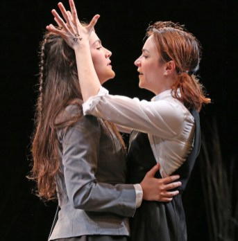 Isabelle Fuhrman and Ismenia Mendes as Macbeth and Lady Macbeth