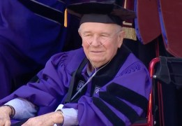McNally receiving Doctor of Fine Arts from NYU in 2019