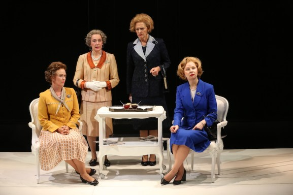 Beth Hylton, Anita Carey, Kate Fahy, Susan Lynskey as the queens and the prime ministers