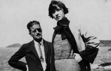 James Joyce with his wife Nora, who is said to have inspired the character of Molly Bloom in Ulysses. Joyce chose June 16, 1904 as the day depicted in his novel because that was the date of his first, um, amorous outing, with then-girlfriend Nora Barnacle.
