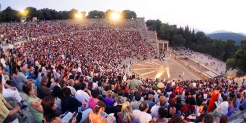 Epidaurus with an audience