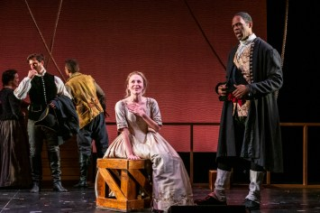 Jennifer Blood as Lady Jane Sharp and Quentin Oliver Lee as Captain Josiah Adams