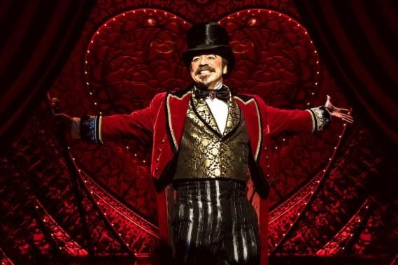 Danny Burstein as the impresario Harold Zidler in Moulin Rouge