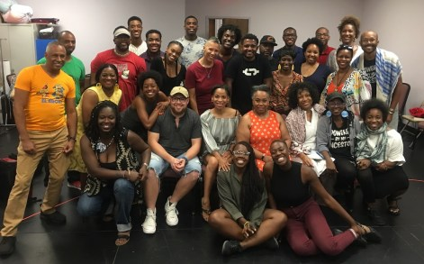 "The producers, writers, directors and cast who put together the six original plays in ""48 Hours in Holy Ground"" within 48 hours. Inspired by six classic African American plays, these brief two- or three-character works had their own rhythm and beauty and humor and force."