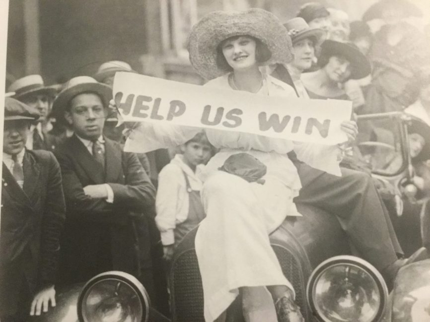 Chorus member Billie Mason on picket duty outside Actors Equity Association headquarters during the strike of 1919