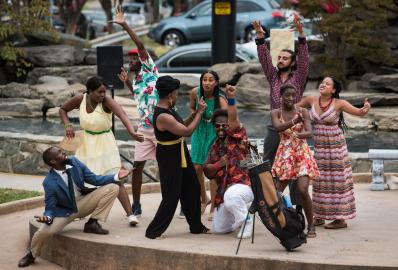 "Twelfth Night, or what you will, mon"" was performed by North Carolina Black Repertory Company outdoors at Winston Square Park. William Shakespeare's comedy but the setting moved from the Island of Illyria to Jamaica the songs by Bob Marley"