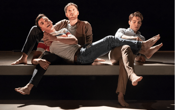 Samuel H. Levine, Kyle Soller and Andrew Burnap in The Inheritance
