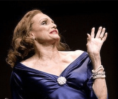 Valerie Harper as Tallulah Bankhead in Looped