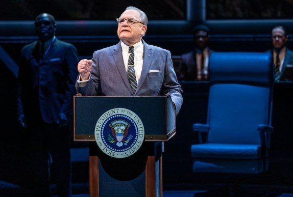 "Brian Cox as LBJ in Robert Schenkkan's 2019 sequel to ""All The Way"""