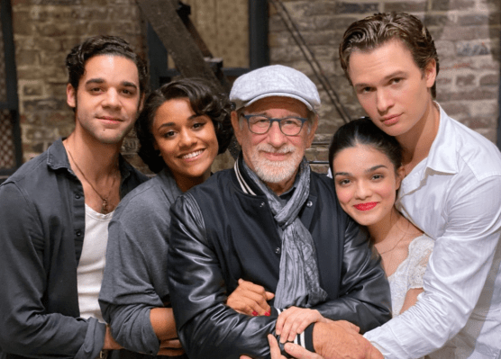 Spielberg and West Side Story film cast