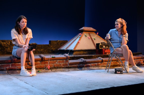 Kristen Sieh as Harriet and Erin Markey as Matilda in Dr. Ride's American Beach House