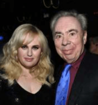 Cast member Rebel Wilson and composer Andrew Lloyd Webber at CATS movie premiere