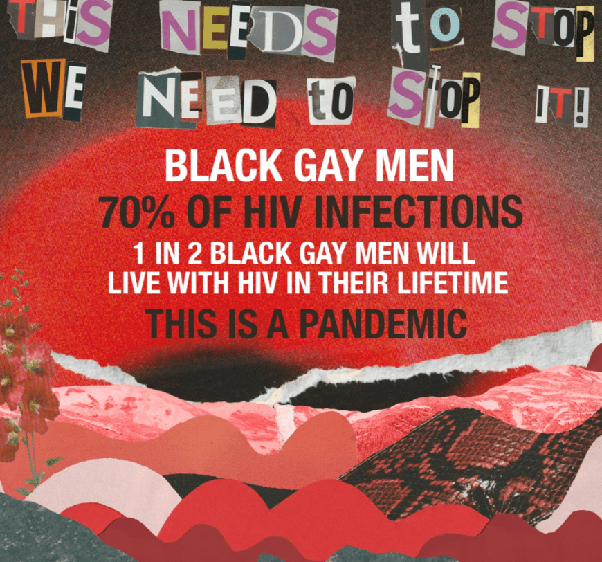 World Aids Day black gay men poster