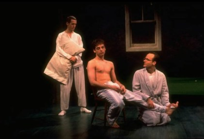 Stephen Spinella, Justin Kirk and John Benjamin Hickey in Love! Valour! Compassion! in 1995