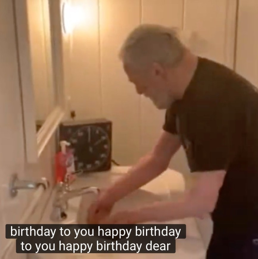 Stephen Sondheim wishing Andrew Lloyd Webber a happy birthday