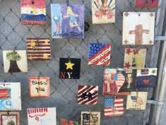 911 memorial tiles in Greenwich Village