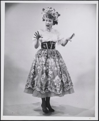 "Elaine Stritch in the Irving Berlin musical ""Call Me Madam,"" 1952. She was the standby for Ethel Merman."
