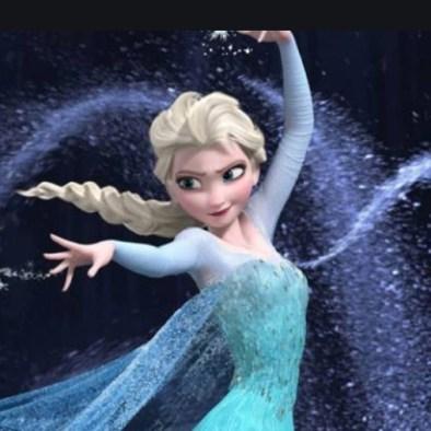 Elsa (Menzel) singing Let It Go, in Frozen