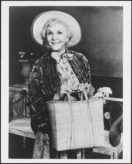 "Mary Martin as Lidya Vasilyevna in ""Do You Turn Somersaults? "" The 1978 play by Aleksei Arbuzov; translated by Ariadne Nicolaeff, in which she starred opposite Anthony Quayle fan for 16 performances."