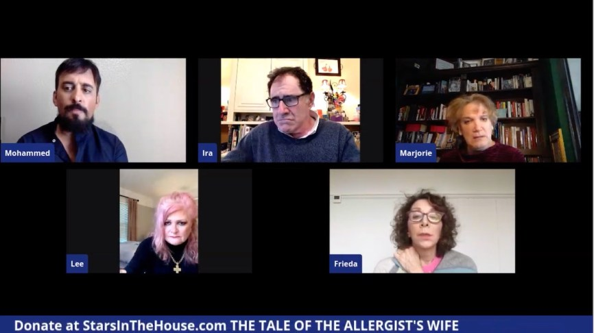 "A livestream of The Tale of the Allergist's Wife, as part of #PlaysintheHouse, the twice weekly live online ""matinees"" from Stars in the House"