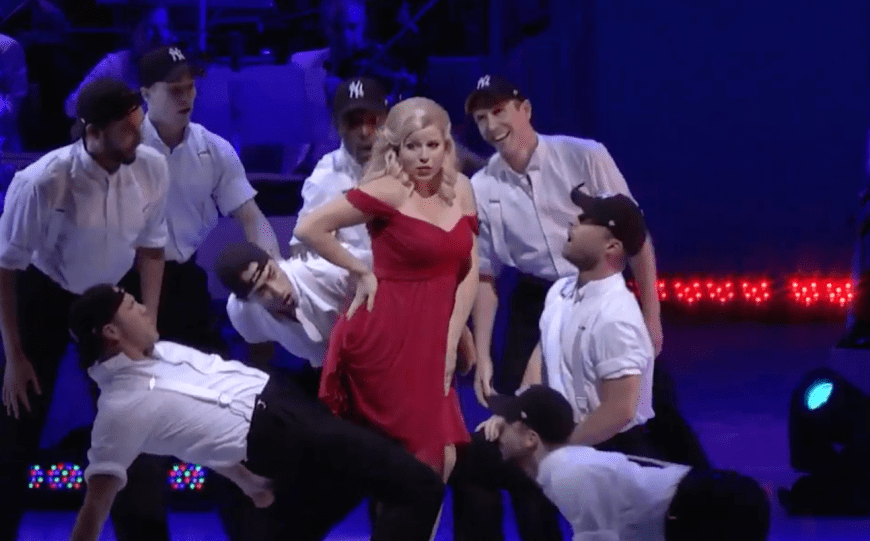 Megan Hilty and the Yankees