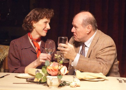 Julia Child (Karen Janes Woditsch, left) and Paul Child (Craig Spidle)